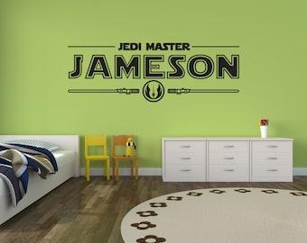 Star Wars Wall Decal Sticker Jedi Master Personalized Wall Decor Vinyl Decal Sticker