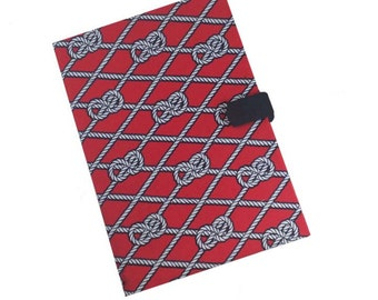 Samsung Tab 10  Kindle Paperwhite Kobo Nook Tablet Case Ipad Air Mini Case Nautical ropes Red Ipad 1 2 3 4 case Magnetic Closure