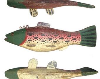 Vintage Wooden Rainbow Trout Decoy