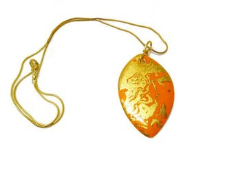 orange and gold porcelain jewelry