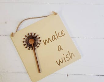 SALE-Make a wish plaque