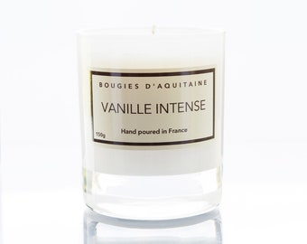"""Soy Candle """"Vanille Intense"""" / Rich Vanilla - made in France."""