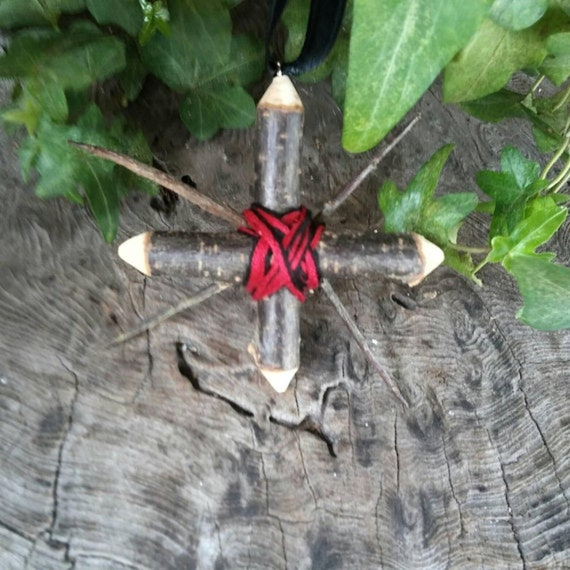 Blackthorn Morrigan's Star - Blackthorn Cross - Blackthorn - Talisman - Charm - Witchcraft - Occult - Protection Charm