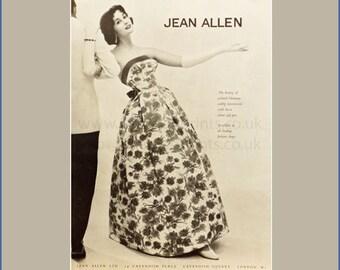 Fashion plate from Harper's Bazaar advertising Jean Allen dress