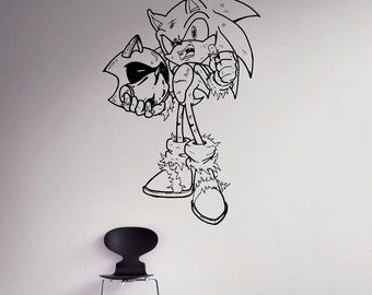 Sonic Hedgehog Wall Vinyl Decal Comics Hero Wall Sticker Home Interior Bedroom Decor Kids Room Wall Design 11(snc)