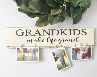 Grandkids sign - Grandparents sign - Grandkids make life grand sign - Grandmother gift -Grandparents gift