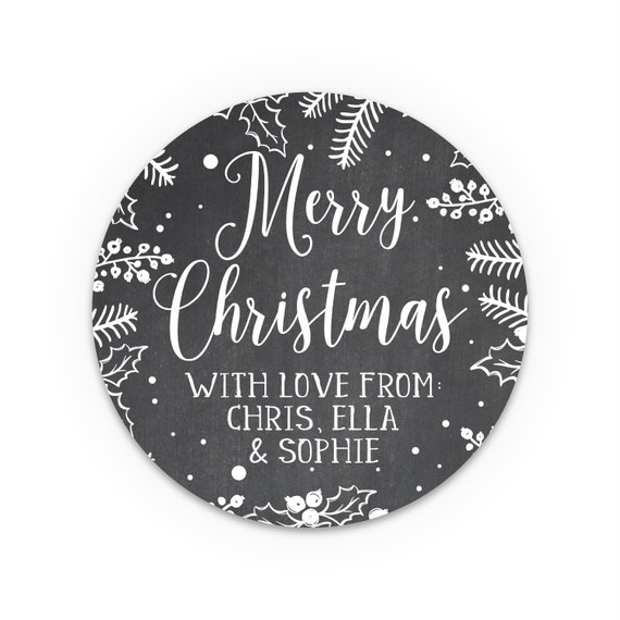 Gold christmas stickers, Merry Christmas Label, Christmas Stickers, Gift wrapping ideas christmas, Christmas personalized gift tags