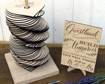 Wedding Guest Book Alternative, Heart Wedding Guest Book Tower, Custom Wood Wedding Guestbook, Build Memories Guestbook, 3D Guest Book
