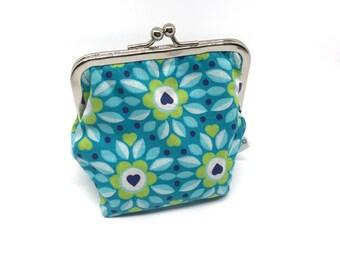 Metal frame kiss lock purse/coin purse Flowers
