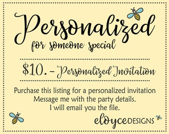 Special Order Personalized Invitation