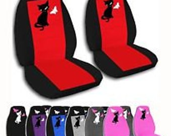 Cat & Butterflies Car Seat Covers....Many Colours...All Cars..