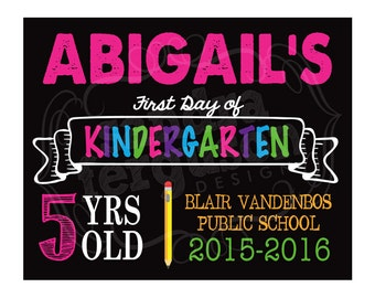 8x10 or 11x14 Personalized First Day or Last Day of School Sign | DIY Printable | Photo Prop - DIGITAL FILE
