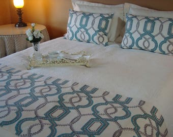 Bed Runner, Bed Scarf, Bedding, Queen Bed Scarf Bed Runner P Kaufmann  Decorative Bed Scarf