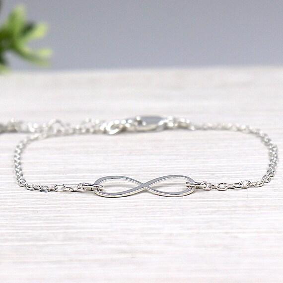 women infinity bracelet on chain Silver 925