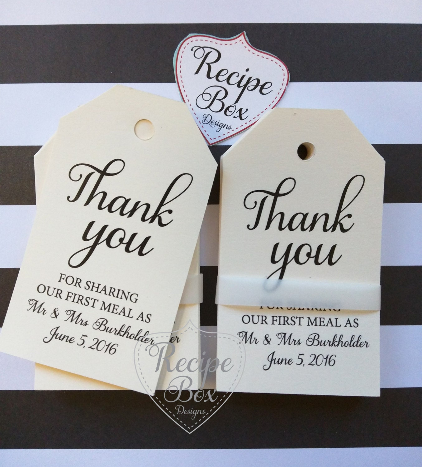 Wedding Favor Tags, Custom Favor Tags, Thank You For Sharing Our ...
