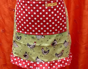 Waist apron with front pocket