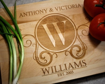 Custom Cutting Board - Wedding Gift - Anniversary - Gift for the Couple - Wooden Cutting Board - Personalized Kitchen - Personalized Decor