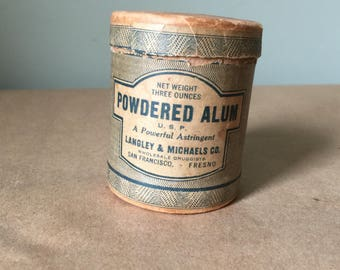 1920 Powdered Alum Container Pharmaceutical