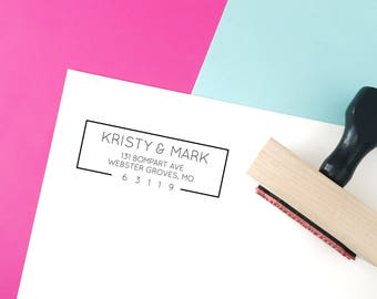 Return Address Stamp, Self-Inking Address Stamp, Wedding Invitation Stamp, Save the Date, Personalized Address Stamp - Custom Address No 153