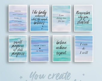 Vision Board Quote Cards | #3 U2022 Fitness Health Quote Print. Wall Art Quote.  Affirmation Printable Deco. Law Of Attraction. Office Wall Decor