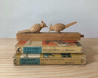 Wood Bird Carving, Wooden Bird Sculpture, Wood Animal Carving, Wooden Toy, Wooden Bird Toy
