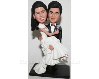 Custom Handmade Bride & Groom Wedding Cake Topper, wedding cake topper , Wedding gift ,great idear cake topper