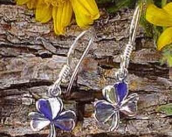 Clover Earrings, .925 Sterling Silver Shamrock Earrings, Celtic Jewelry, Irish Jewelry, Irish Earrings, Lucky - SE-1642-FEW