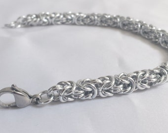 Chainmail Bracelet - Silver Byzantine Weave