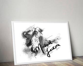 Michael Jackson Gliceé Art/Canvas Print [Limited Edition]