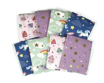 Set of 20 Matchbook Notepads   Party Favor Mini Note Pads in Unicorn Dreams