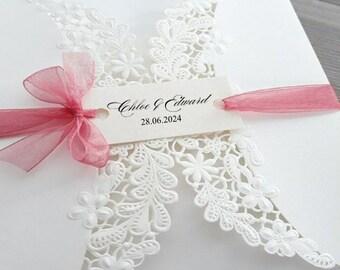 Wedding Invitation Card Tags - 2 hold card tags - Foiled card tags