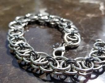 Helm Weave Chain Maille Bracelet/Cuff