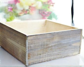 Wooden Box Planter Only ~ DIY ~ Build your own Miniature Garden ~ Fairy Garden ~ Herb Garden ~ Box Only