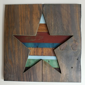 Star Art Theatre Play Handmade Sign Salvaged Wood Used On Stage August Wilson Fences J.P. Shanley Outside Mullingar Upcycled Reclaimed
