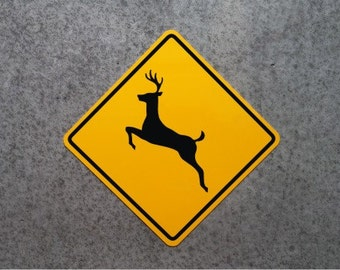 Aluminum DEER CROSSING SIGN - Highway Replica - Hunting Plaque - Mancave -   Free Shipping !