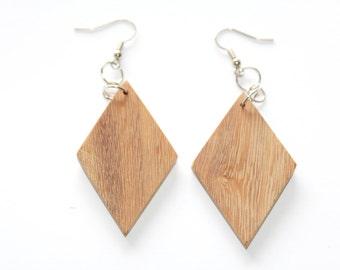 3 Pairs of Wood Earrings, Unfinished Wood Earrings,Brown Earrings, Wood Jewelry, Ecofriendly Jewelry, Craft Supply