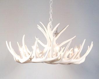 The shabby antler by theshabbyantler on etsy white antler chandelier faux antler chandelier w12c aloadofball Choice Image