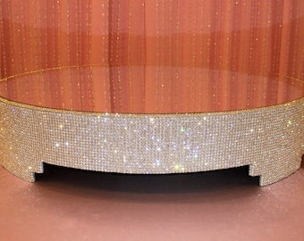 """Crystal Cake stand - 30"""" round"""