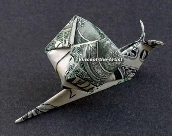 SNAIL Money Origami Dollar Bill Cash Sculptors Bank Note Handmade Dinero