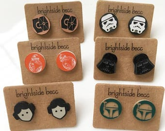 Star Wars Stud Earrings | 12mm | 6 Designs