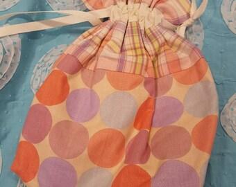 Project Bag - Pastel Circles & Pastel Plaid