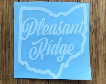 Pleasant Ridge car decal