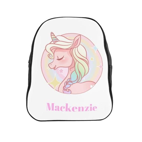 Personalized Unicorn Backpak