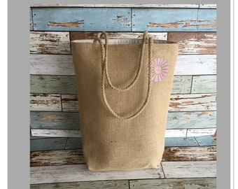 HBBK City tote in pink and green