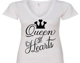Your Queen T- Shirt Queen Of Hearts Gift Of Love Mother Wife