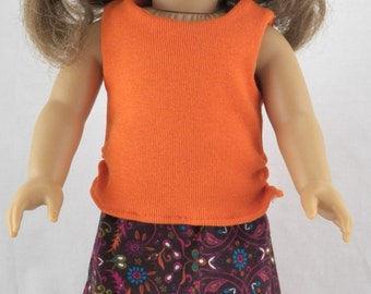 """18"""" American Doll Girl's Tank Top and Maxi Skirt"""