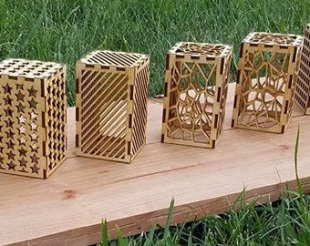 Laser Cut Tea Lights