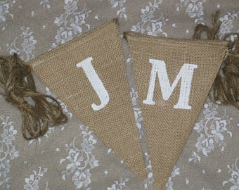 Just Married  Banner  ...  Burlap Banner  ....  Wedding Banner  ...   Just Married