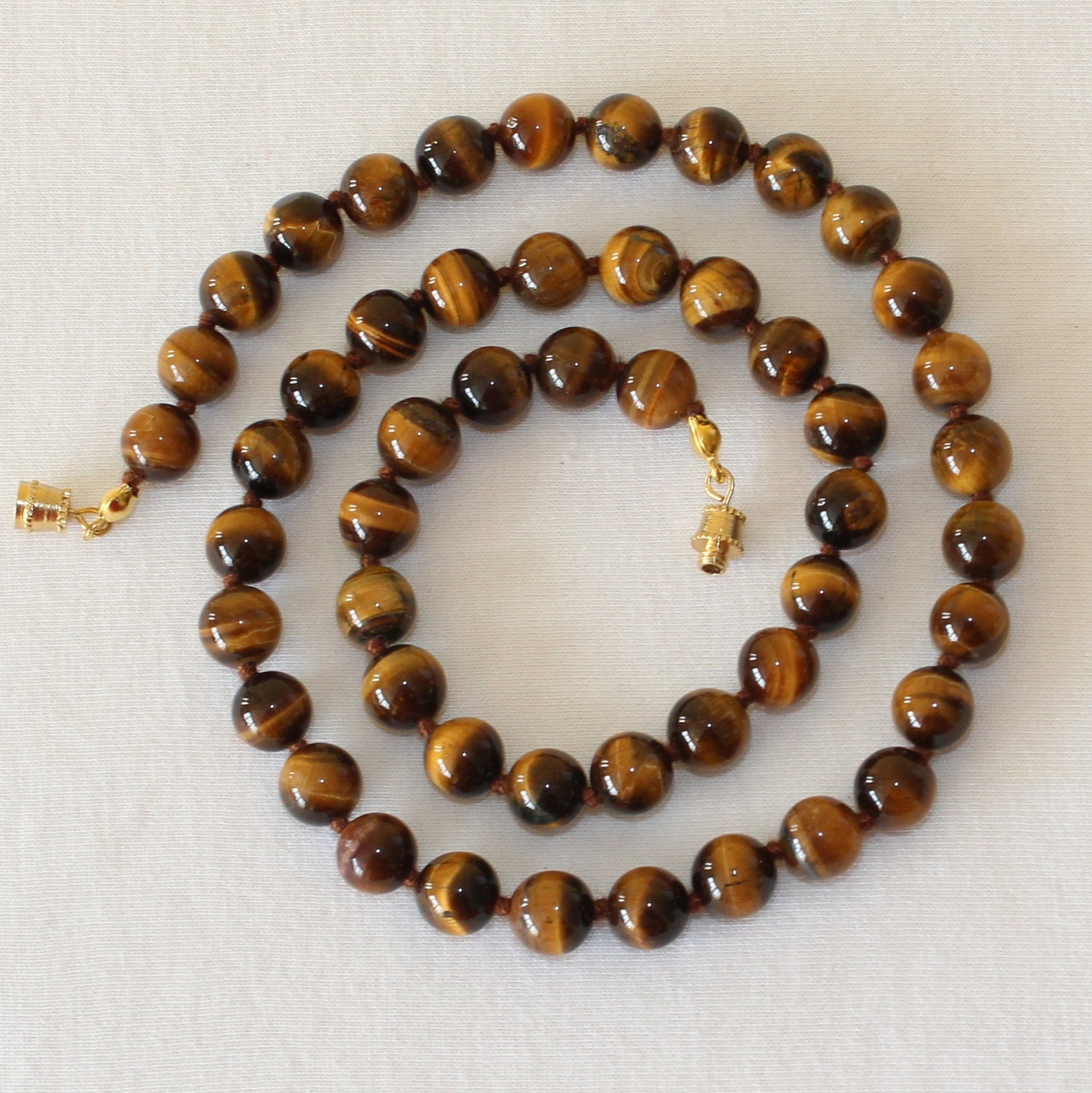 onyx men necklace beaded eye with matte brown gold and products s mnebas tiger