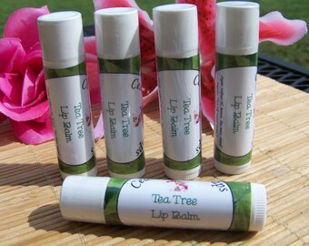 LIP BALM ~ Tea Tree Lip Balm ~ Natural Lip Balms with Tea Tree Essential Oil